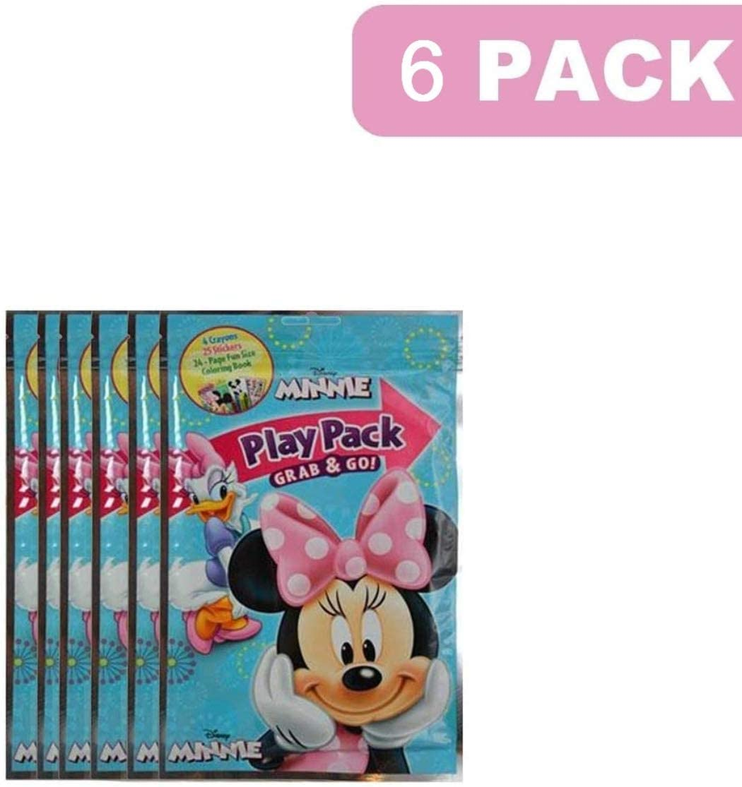 Value Pack 12 Bendon Playback Grab and Go For Minnie and Mickey Mouse Fun Size Coloring Books Bulk For boys Girls Cartoon Characters Bulk activity books for kids Bundle Including 12 Bracelets