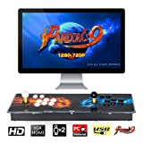 TAPDRA Pandora's Box 9 Multiplayer Joystick and Buttons Arcade Console, Cabinet Games Machines for Home, 1500 Retro Classic Video Games, Newest System with Advanced CPU, Compatible with HDMI (Grey) (Color: C, Tamaño: Pandora's box 9)