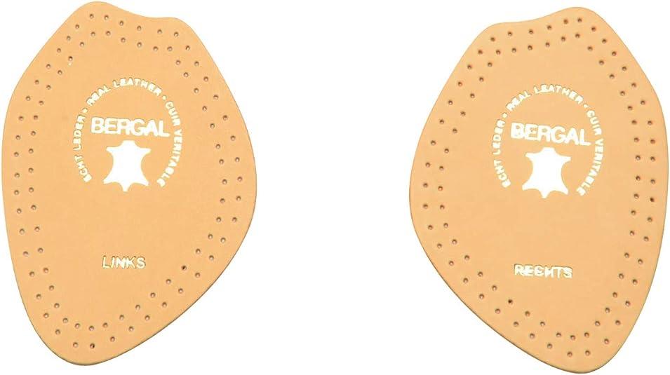 BERGAL Leder Halbsohle mit Aktivkohlefilter Einlegesohle Einlage
