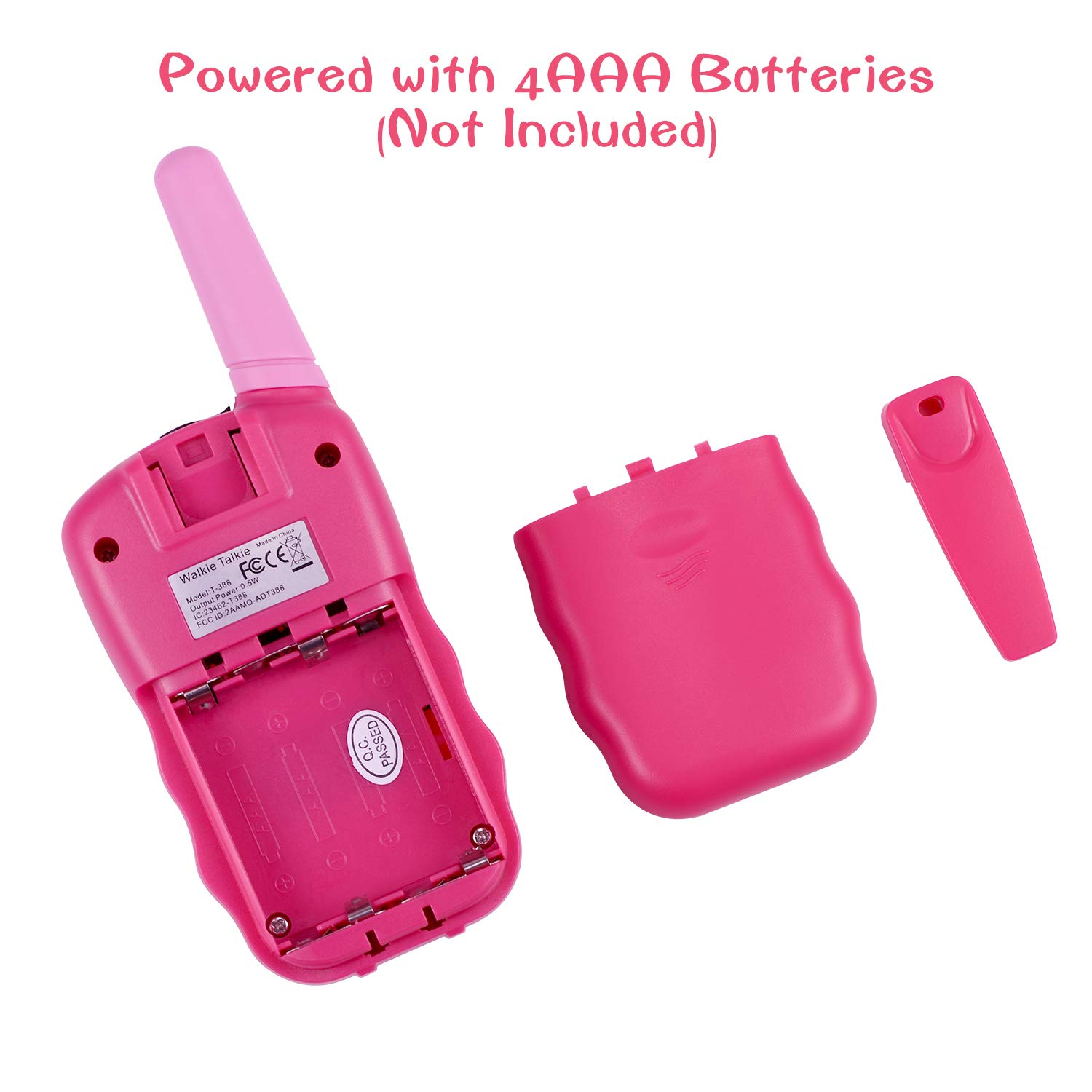 SnowCinda Toys for 3-12 Year Old Girls,Walkie Talkies for Kids with 22 Channels 2 Way Radio 3 Miles Long Range Toy for Outside Adventures, Best Gifts for 4-8 Year Old Boys and Girls by SnowCinda (Image #3)