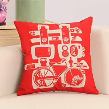 cea5ae391 Chinese wedding pillow Blends red cushion the marriage bed back-A  55x55cm(22x22inch)VersionA: Amazon.ca: Home & Kitchen