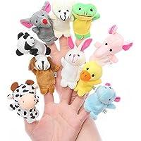 Styleys Velvet Finger Puppets (Multicolour) - Set of 10
