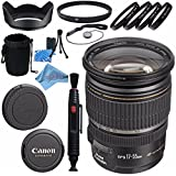 Canon EF-S 17-55mm f/2.8 IS USM Lens 1242B002 + 77mm Macro Close Up Kit + 77mm UV Filter + Lens Cleaning Kit + Lens Pouch + 77mm Tulip Lens Hood + Fibercloth Bundle