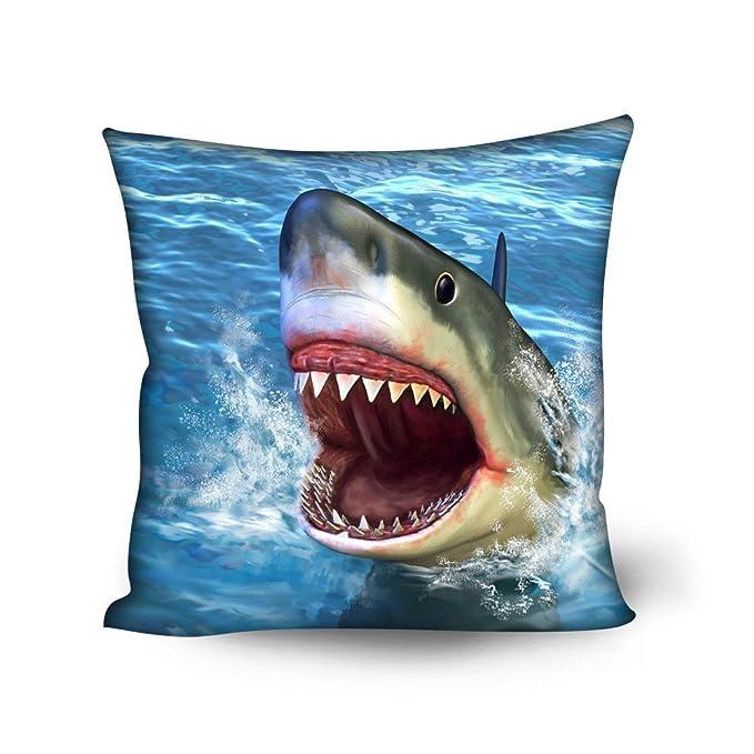 Amazon.com: Showudesigns Trendy Shark Classic Cushion Covers ...