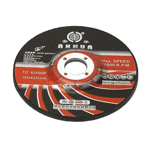 Amazon.com: 5 discos de rueda de corte de resina de 5.0 in ...