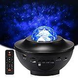 Delicacy Proyector de Luz Estelar, LED Cambiar Color Reproductor de Música con Bluetooth y Temporizador, Lámpara Luces…