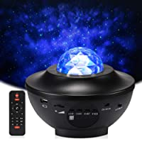 LED Sterlicht Projector, Delicacy Oceaangolf Nachtlichten,Roterende Nevel Projector Lamp,Kleur Veranderende Muziekspeler…