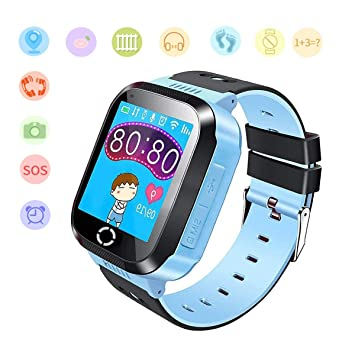 Jslai Niños Smartwatch Relojes, GPS/LBS Kids Smart Watch de Alarma ...