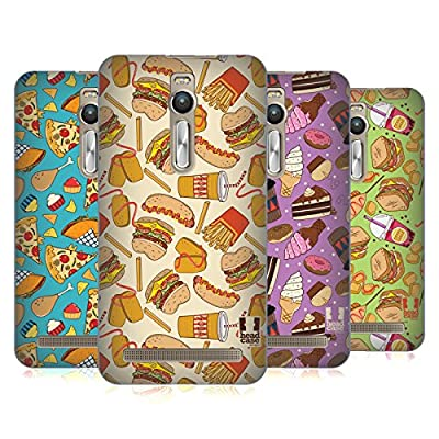 Head Case Designs Fast Food Patterns Hard Back Case Cover for OnePlus Asus Amazon