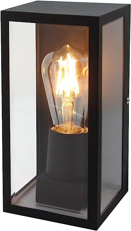 IP44 Box Outdoor Wall Light MiniSun Double Lights Glass Display Vintage LED Bulb