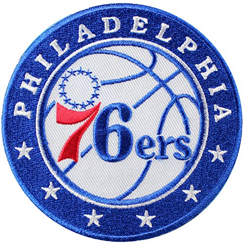 fan products of Official Philadelphia 76ers Logo Large Sticker Iron On NBA Basketball Patch Emblem