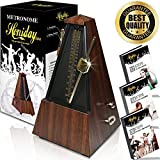Honiday Mechanical Metronome | Vintage, Antique Style Beat Keeper | Tuner for Musical Instruments | Guitar, Piano, Drums, Violin, Vocals | Includes Training eBooks