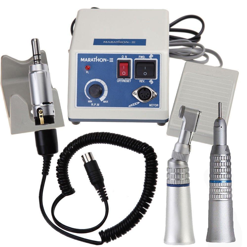 Laboratorio odontotecnico Marathon Micromotor 35K RPM N3 Machine + Manipoli diritti e contrangolo PRIT2016
