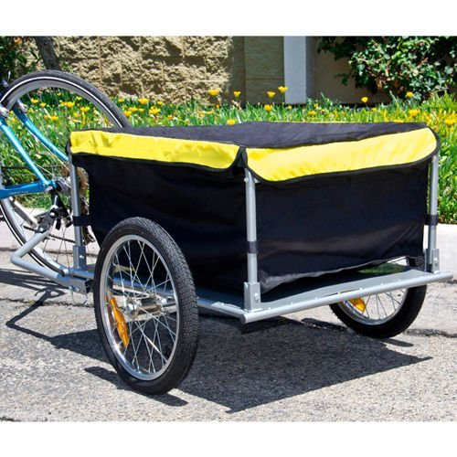 Bike Cargo Trailer Bicycle With Cover Shopping Cart Carrier Tow Hauler (Croozer Dog Trailer)