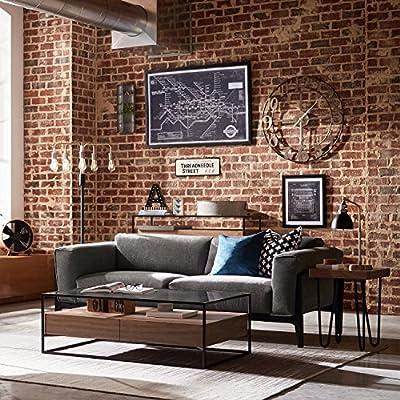 Rivet Apex Oversized Cushion Modern Accent Chair Sofa, Loveseat