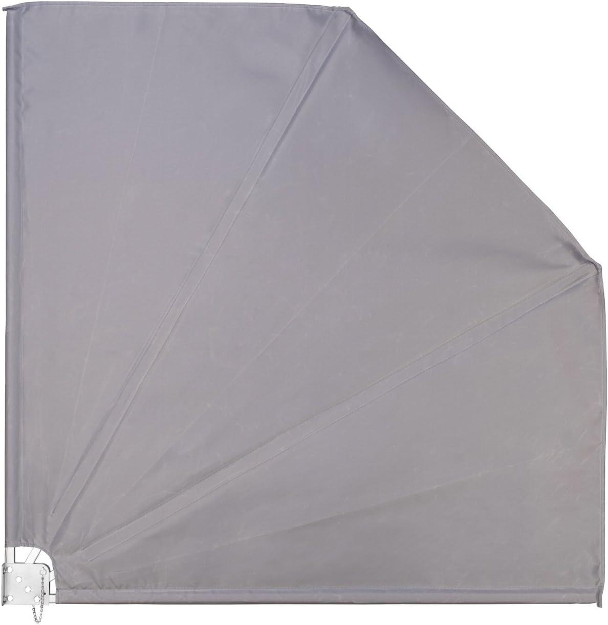 Ventanara Balkonfacher Grau Sichtschutz Windschutz Sonnensegel 140