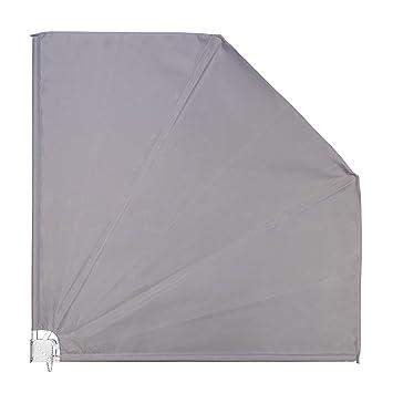 Ventanara Balkonfacher Grau Sichtschutz Windschutz Sonnensegel 140 X