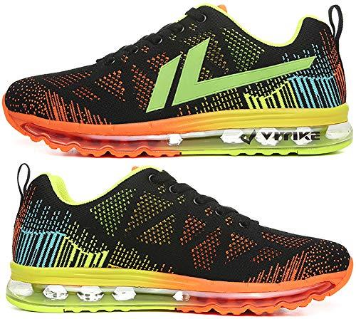 Damen Unisex VITIKE 5 orange Sportschuhe Freizeitschuhe Sneakers Turnschuhe Laufschuhe mit Herren Light Atmungsaktives Luftpolster Ultra vUUBEwqr