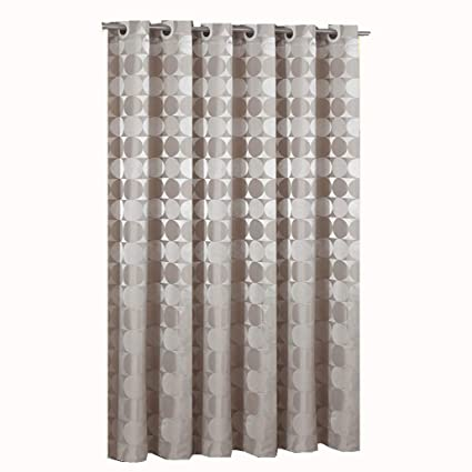 Goodbath Bathroom Shower Curtain By Hotel Style Round Circle Pattern Heavy Weight Waterproof And Mildew