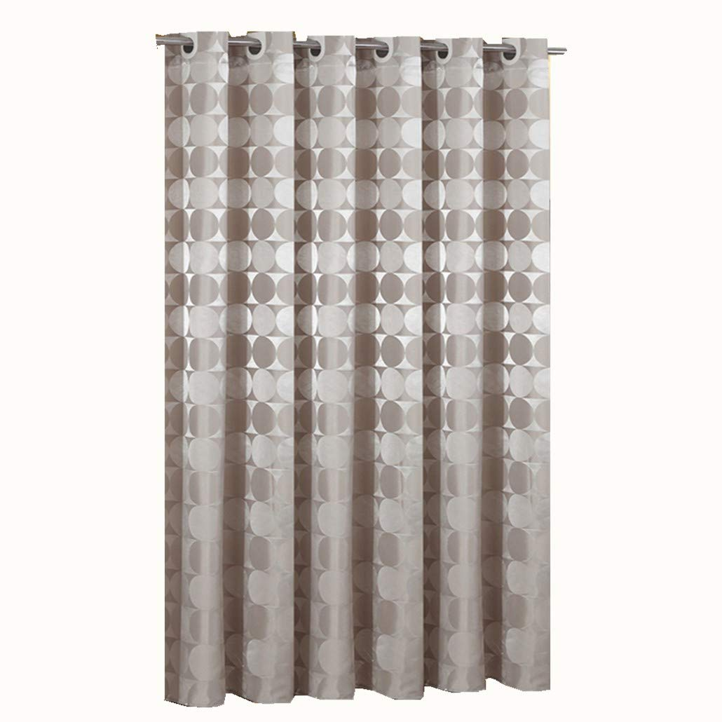 Goodbath Bathroom Shower Curtain by, Hotel Style Round Circle Pattern Heavy Weight Waterproof and Mildew Resistant Fabric Bath Curtains, Extra Long 72 x 84 Inch, Khaki