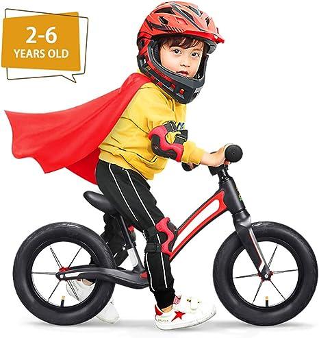 LAYG-Bicicleta Bici sin Pedales Bebe, Bicicleta Equilibrio Bicicleta para Niños y Niñas 2-6 Años, Bicicleta Infantil sin Pedales, Juguetes Bebes Baby Balance Bike/Red: Amazon.es: Deportes y aire libre