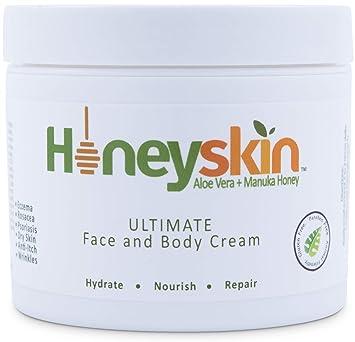 Face and Body Cream Moisturizer - Nourishing Aloe Vera - Manuka Honey for  Rosacea Eczema