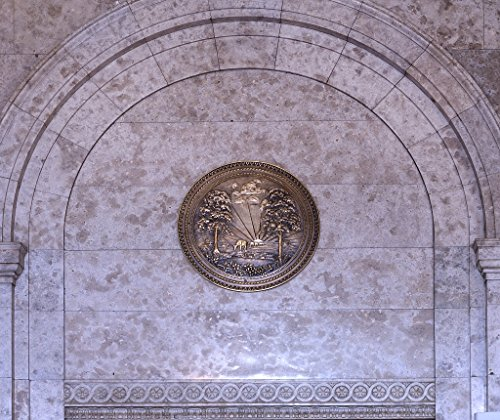 16 x 24 Art Canvas Wrapped Frame Giclee Print of Medallion at the Texarkana U.S. Post Office and Federal Building 4130 Highsmith 10a