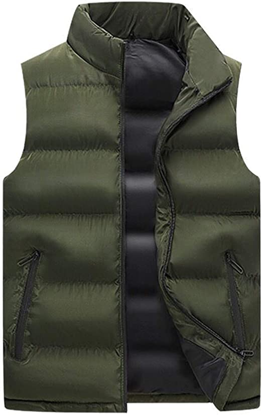 mydeshop Mens Sleeveless Coat Vest Down Vest Down Jacket Outwear