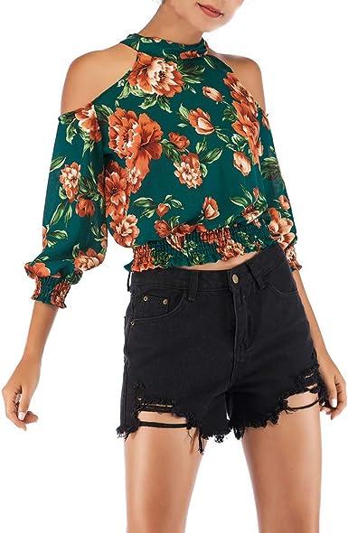 Berimaterry Blusas Camisetas Mujer Tallas Grandes, Camisetas Mujer Verano Blusa Mujer Elegante Camisetas Mujer Manga Corta Camiseta Mujer Fiesta Camisetas Sin Hombros Mujer Camiseta de Mujer a Rayas: Amazon.es: Ropa y accesorios
