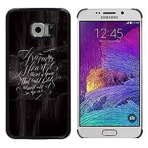 Be Good Phone Accessory // Dura Cáscara cubierta Protectora Caso Carcasa Funda de Protección para Samsung Galaxy S6 EDGE SM-G925 // make sense