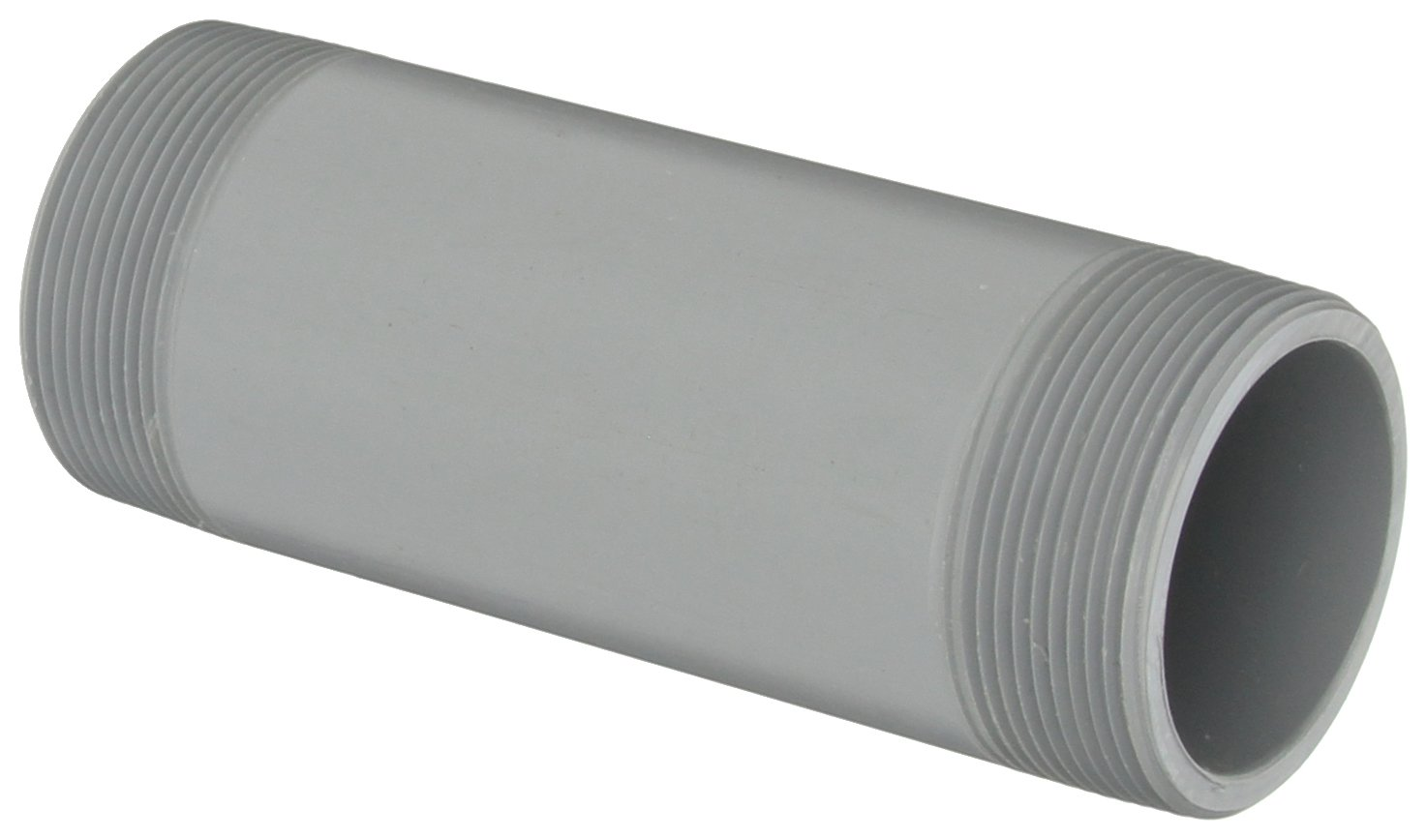 Gray GF Piping Systems PVC Pipe Fitting Coupling Schedule 80 1-1//4 NPT Female