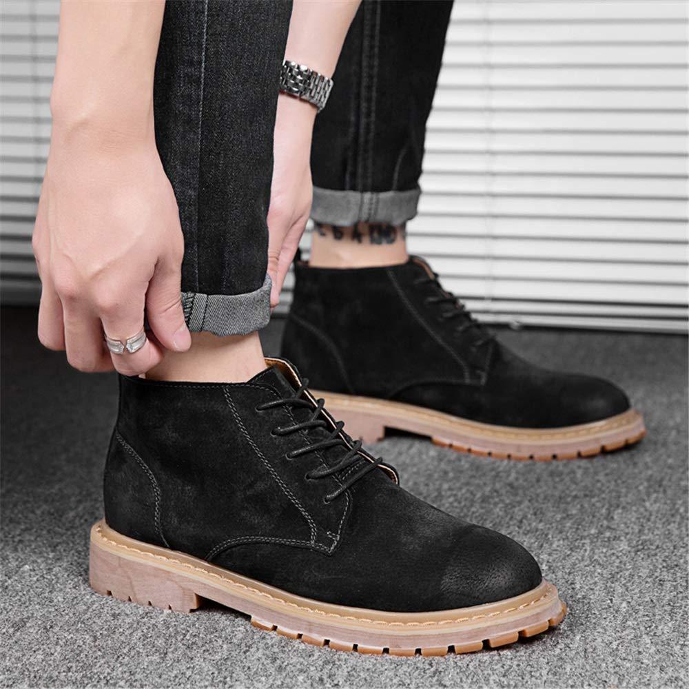 Ruiyue Mode Retro Ankle Work Stiefel Lässig Lässig Lässig Einfache und Komfortable Classic High Top Stiefel für Männer (Farbe   Schwarz, Größe   38 EU) aa50e8