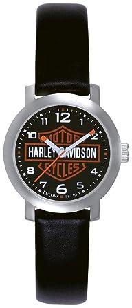 76l10 Quarz Damen Armbanduhr Harley Davidson Analog Leder wkXZiuTOP