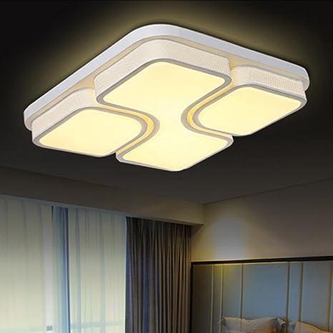 Etime 48w Design Led Deckenlampe Led Deckenleuchte Wohnzimmer Lampe Schlafzimmer Kuche Leuchte 2700k Weiss Quadratform 52x52cm 48w Warmweiss Amazon De Beleuchtung