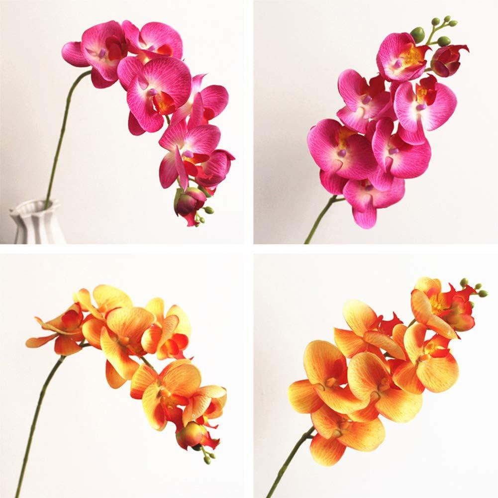 cr/éations manuelles violet RIsxffp Lot de 7 orchid/ées papillon artificielles pour d/écoration de banquet de mariage