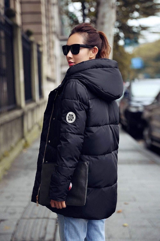 SMAWJD Abbigliamento di Cotone 2019 Giacca Imbottita Donna Nuova Giacca Invernale Donna Piumino in Cotone Giacca Parka Slim Cappotto Invernale da Donna Plus Size S-XXXL Nero
