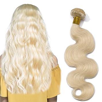 Extensiones de cabello humano virgen rubio Remy 100 g/pack 1 ...