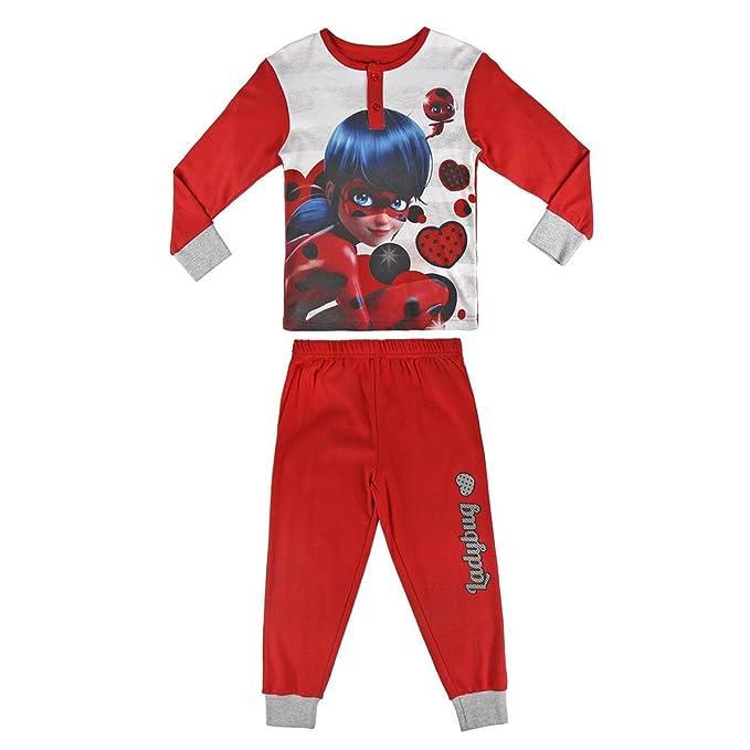 Ladybug - pijama manga larga 2 piezas interlock 100% algodón (98cm-104cm)
