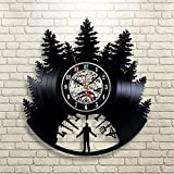 Twin Peaks Vinyl Wall Clock, Gift For Man, Wall Clock Large, New Year Gift For Her, Xmas Gift For Boyfriend, Twin Peaks Clock
