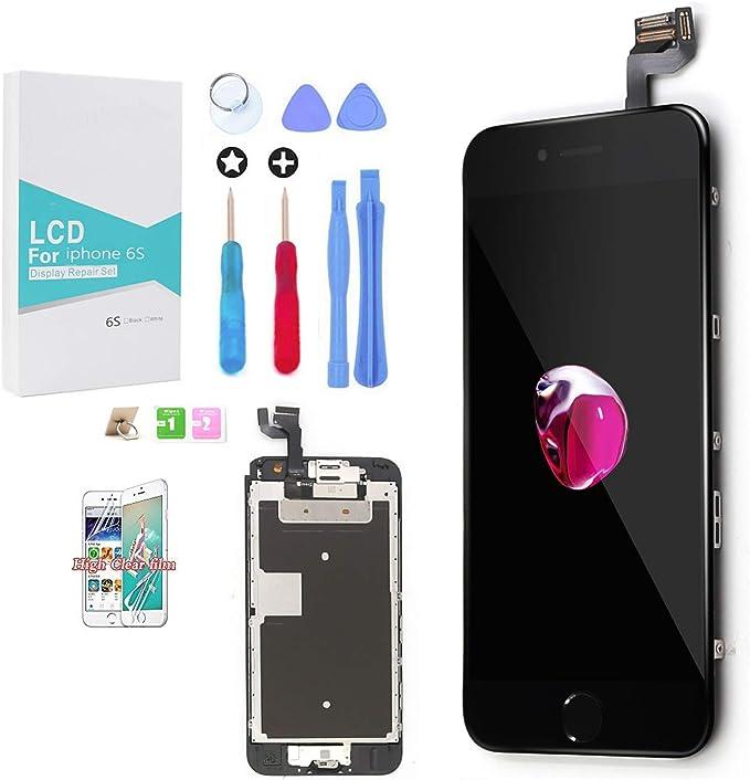 GLOBALGOLDEN Para Pantalla LCD iPhone 6s, Pantalla Táctil de 4,7 Pulgadas Conjunto Marco Digitalizador con Cámara Frontal, Altavoz, Kit de Reparación ...