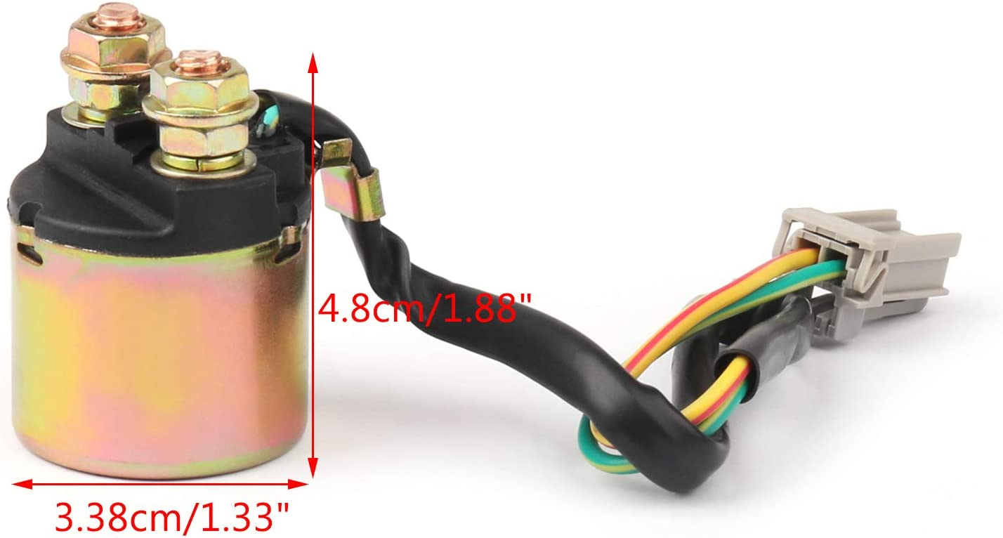 Replacement 12V Moto Starter Relay Solenoid for H-O-N-D-A Big Red 700 MUV700 2009-2013 35850-HL1-A01 Artudatech Motorcycle Starter Relay