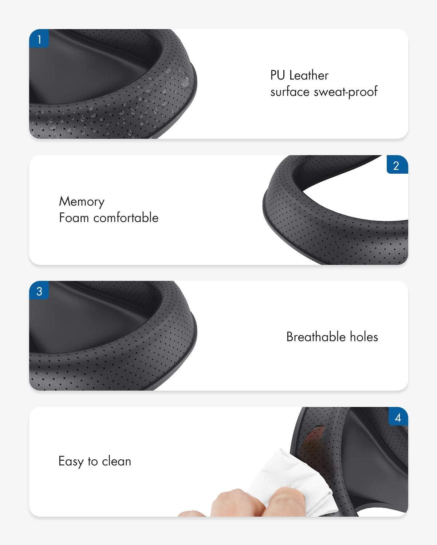 KIWI design Soporte de Interfaz Facial VR y Almohadilla de Cubierta Facial de Espuma de Cuero PU Reemplazo para Accesorios Oculus Rift S Resistente al Sudor Transpirable y Lavable