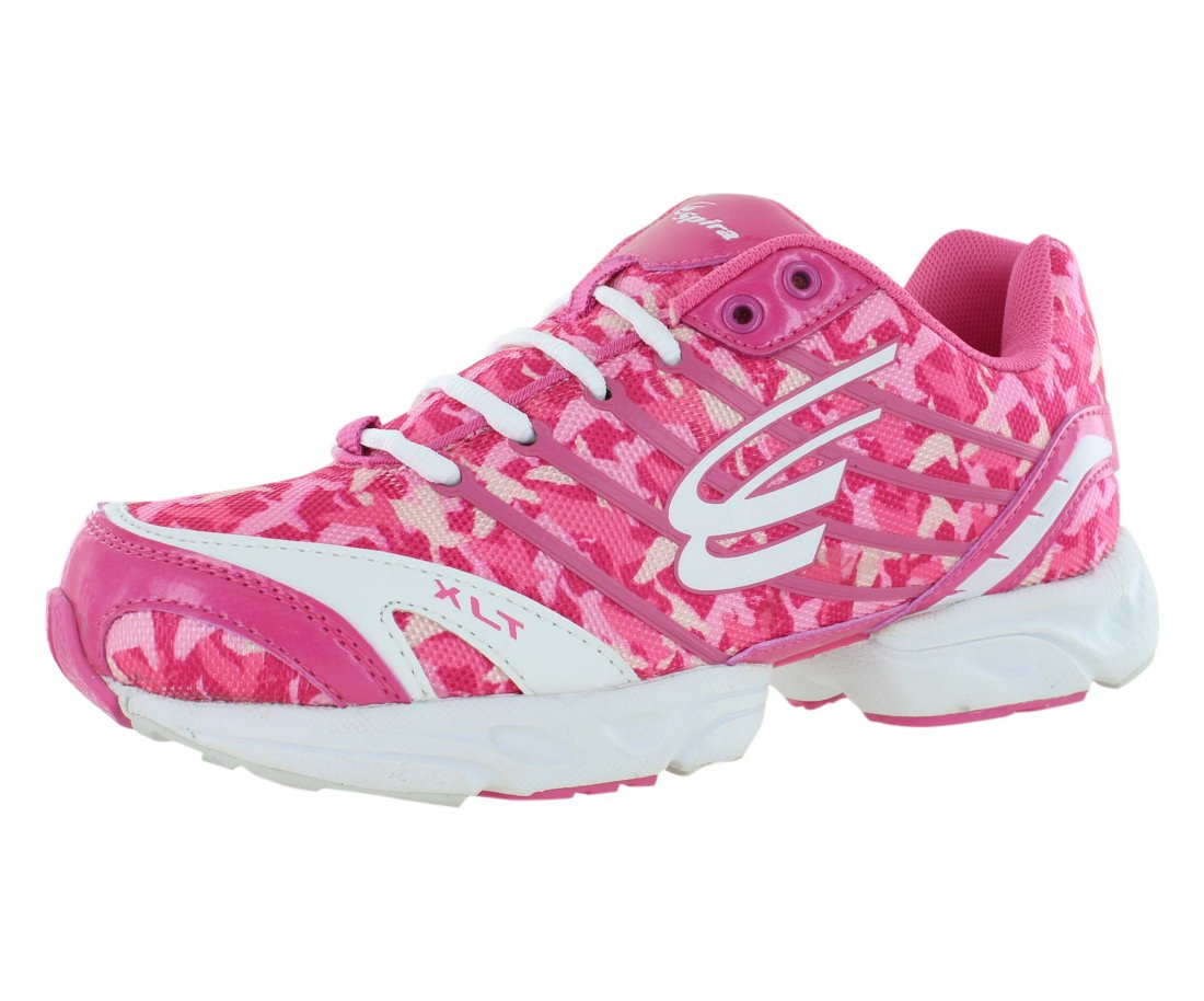 Spira Women's XLT Camo Limited Edition Running Sneakers B00QQUWM2W 6.5 B(M) US|Pink / White