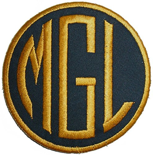 Customize Embroidered Circle Font Name Initial Monogram Iron On Applique Patch (3
