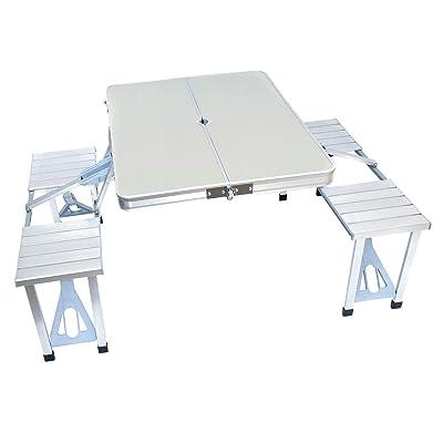 Table pliante en aluminium avec bancs Salon de jardin/Biergarten ...