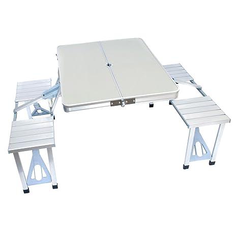 Tavolo Pieghevole Con Panche.In Alluminio Pieghevole Con Seduta Panche Set Per Campeggio
