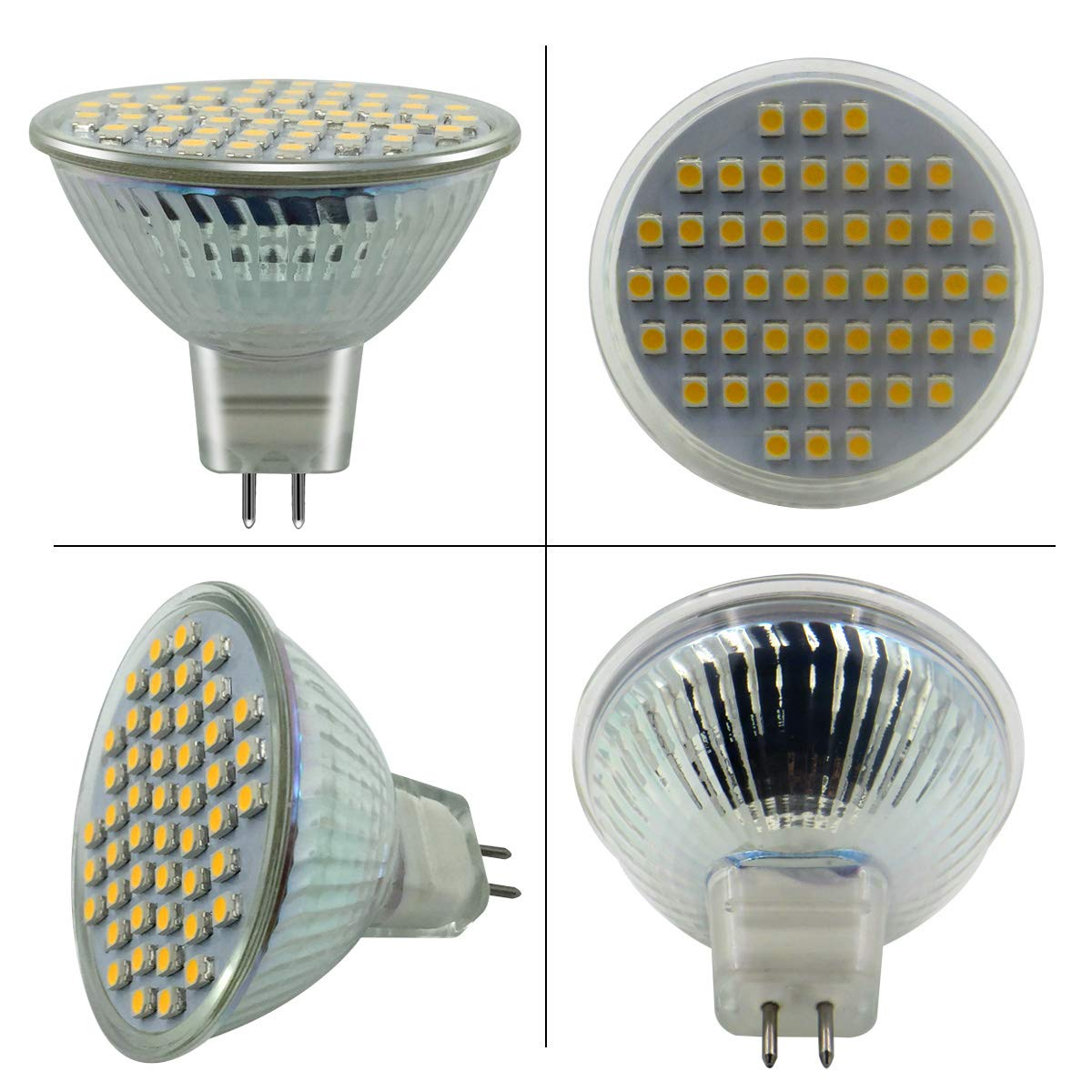 40 Degree Beam Angle Non-Dimmable 50W Equivalent 400 Lumens MR16 GU5.3 Base Warm White GU5.3 Spot Light Bulb Pack of 6 AC//DC 12V 5W Warm White 3000K ZhenMingPhotoelectric MR16 GU5.3 LED Light Bulbs