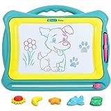 NextX お絵かきボード 4色マグネット式 子供おもちゃ スタンプ・ステッカー付き プレゼント 知育玩具 繰り返し描ける