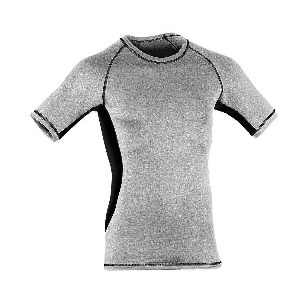 Engel Sports Bio Funktionswäsche Herren Kurzarm Shirt aus Bio Merinowolle und Seide mit Elasthananteil