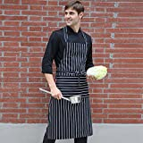 DXG&FX Work clothes in the kitchen Cooking apron Cotton Halter Apron-A